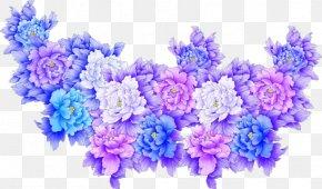 Flower Cluster - Flower Purple Blue Clip Art PNG