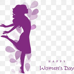 Women's Day Decorative Elements - International Womens Day Happiness Quotation Woman Wish PNG