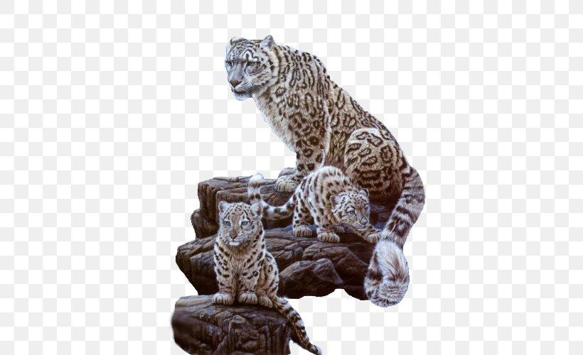 Snow Leopard Cat Tiger Cougar, PNG, 500x500px, Leopard, Animal, Art, Big Cat, Big Cats Download Free