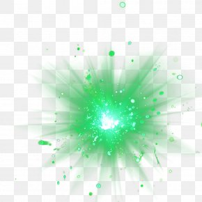 Explosion-shaped Green PNG