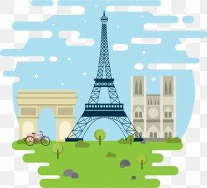 Eiffel Tower - Eiffel Tower Arc De Triomphe Vector Graphics Clip Art Image PNG