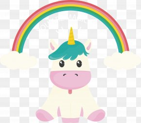 The Unicorn Sitting On The Ground - Unicorn Computer File PNG