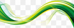 Flowing Green Wave Vector Material - Green Download PNG