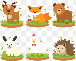 Vector Cartoon Hedgehogs And Foxes - Hedgehog Animal Clip Art PNG