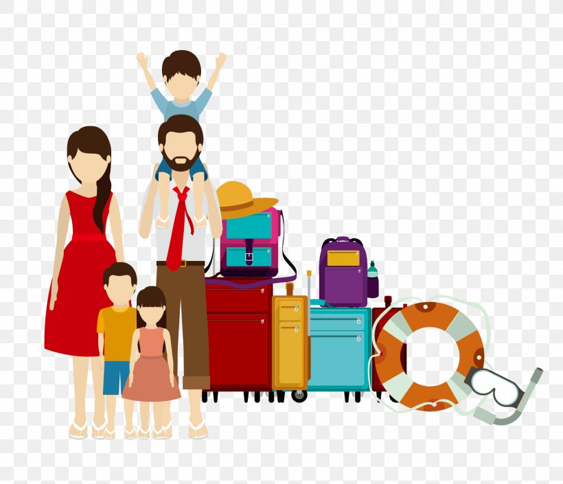Family Travel Illustration, PNG, 1772x1525px, Family, Art, Cartoon, Drawing, Flat Design Download Free