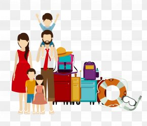 Family - Family Travel Illustration PNG