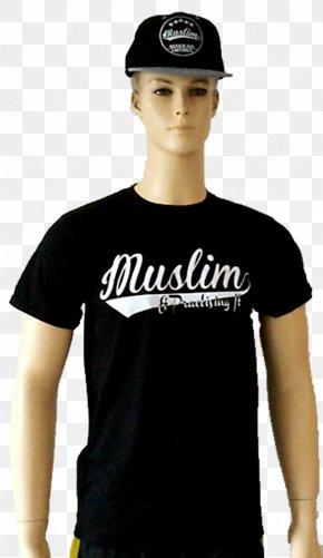 T-shirt - T-shirt Black M Shoulder Sleeve Logo PNG