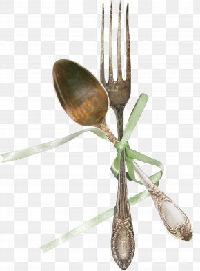 Gift Spoon Fork Material Free To Pull - Wooden Spoon Fork Tableware PNG