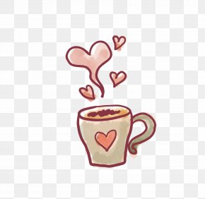 Love Coffee - Valentines Day Paper Drawing Heart Love PNG