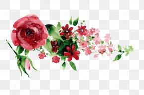 Hand-painted Red Flowers - Wedding Invitation Idea Creativity Wedding Reception PNG