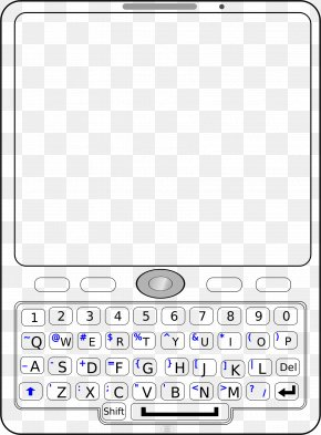 Phonetic - Feature Phone Mobile Phones QWERTY Clip Art PNG