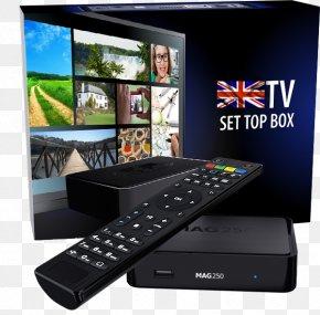 Noir InternetOthers - IPTV Set-top Box Over-the-top Media Services Infomir MAG254 Récepteur Multimédia Numérique PNG