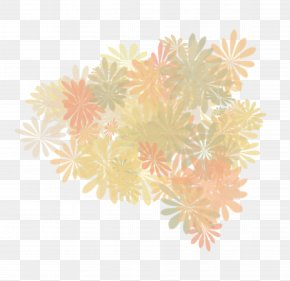 Heart - Yellow Petal Pattern PNG