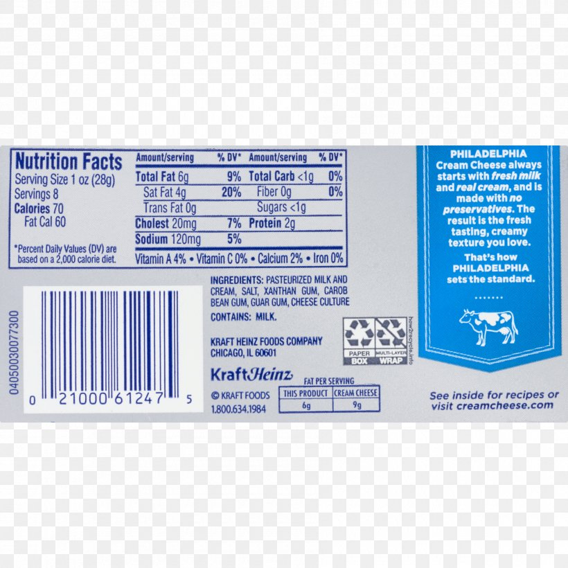 Cream Cheese Frosting Icing Nutrition Facts Label Png 1800x1800px Cream Arla Foods Cake Calorie Cheese