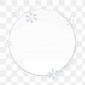 White Circle Painted Snowflake Pattern - Circle Area Pattern PNG