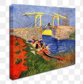 Van Gogh - Langlois Bridge At Arles Van Gogh Museum Painting Starry Night Over The Rhône PNG
