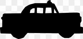 Blackandwhite Pickup Truck - Car Cartoon PNG