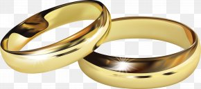 Golden Wedding Ring Vector - Wedding Ring Engagement Ring PNG
