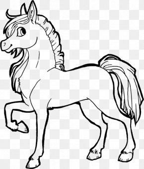 Horse Line Art - Arabian Horse Line Art Drawing DeviantArt Clip Art PNG