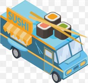 Blue Sushi Car - Car Automotive Design Catering PNG