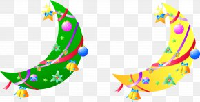 Vector Christmas Elements Moon Pictures - Christmas Gift Moon PNG