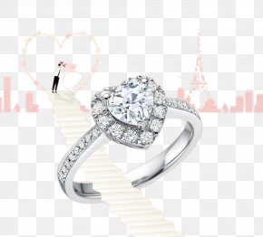 Wedding Ring - Earring Wedding Ring Jewellery Diamond PNG
