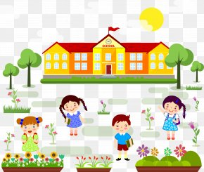 Back To School Children - Student First Day Of School Clip Art PNG