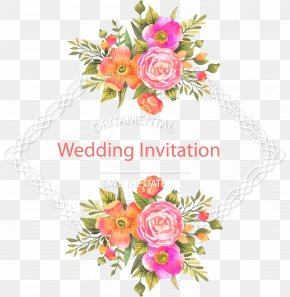 Fresh And Beautiful Flower Border - Wedding Invitation Flower Download PNG