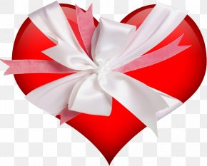 Love Red Bow - Heart Gift Valentines Day Wallpaper PNG