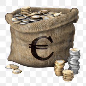 A Bag Of Euro - Senec TurboSquid Money Bag 3D Modeling PNG