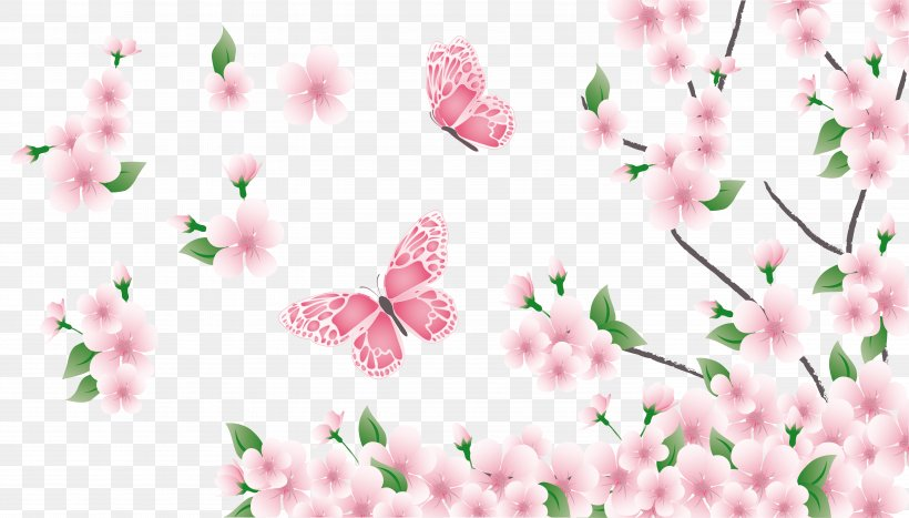Spring Clip Art, PNG, 5747x3273px, Flower, Blossom, Branch, Cherry Blossom, Document Download Free