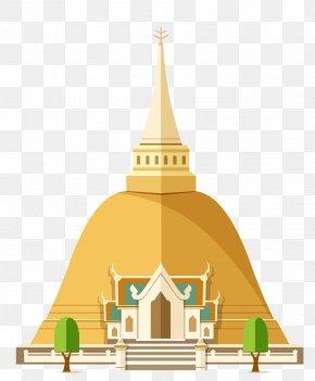 Cartoon Thailand Tourist Attractions - Thailand Landmark Tourism PNG