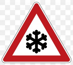 Vector Attention To Ground Icing - United Kingdom Snow Warning Sign Traffic Sign PNG