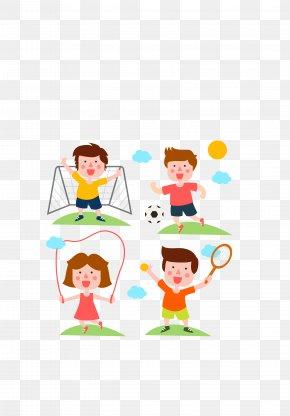 Vector Color Movement Kids Cartoon - Sport Euclidean Vector Clip Art PNG