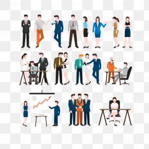 Vector Business People Collection - Euclidean Vector Illustration PNG