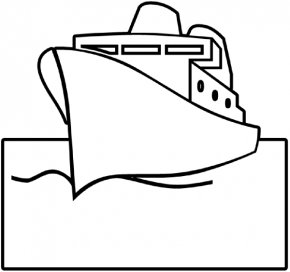 Ship Outline - Cruise Ship Sailboat Clip Art PNG