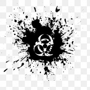 Biohazard Symbol - Ink Maliket El Ehsas Drawing PNG