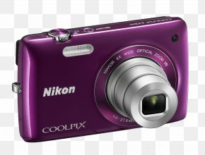 Photo Camera Image - Point-and-shoot Camera Nikon Zoom Lens Photography PNG