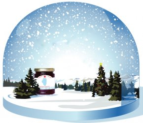 Christmas Snow Globe - Christmas Decoration Snow Globes Clip Art PNG