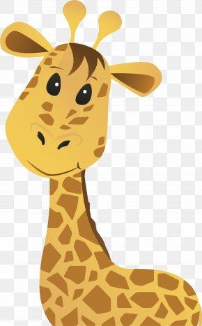 Cute Giraffe - Giraffe Euclidean Vector Clip Art PNG