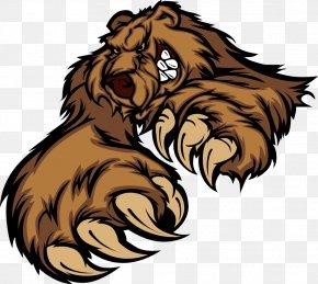 Animal Print - Grizzly Bear Brown Bear Cartoon PNG