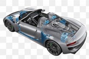 Sports Car - 2015 Porsche 918 Spyder Weissach Sports Car PNG