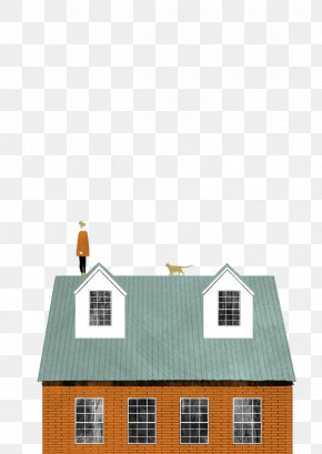 Woman And Cats On The Roof - Woman Illustrator Illustration PNG