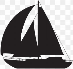 Sailboat Silhouette Clip Art Image - Sailing Ship Ice Boat Rigging PNG