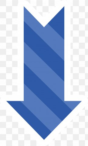 Blue Stripe Down Arrow - Arrow Euclidean Vector Adobe Illustrator Computer File PNG