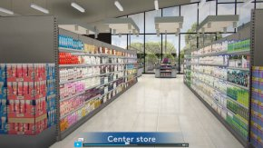 Store Shelf - Retail Grocery Store Shopping Virtual Reality PNG