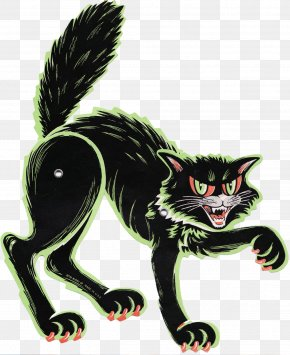 Black Cat - Black Cat Halloween Paper Whiskers Holiday PNG