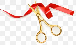Ribbon-cutting Scissors Vector Material Festivals, Opening Celebration, Scissors, - Scissors Ribbon Opening Ceremony Cutting PNG