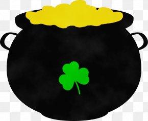 Plant Cauldron - Green Leaf Watercolor PNG
