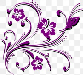 Gold Card Cliparts - Butterfly Flower Violet Clip Art PNG